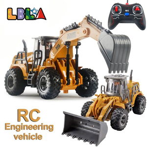 RC Excavator 2.4Ghz 1:32 RC Engineering Car Remote Control Excavator Construction Vehicle RTR Model Toys for Kids Christmas Gift