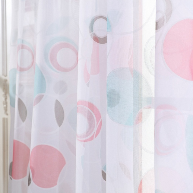Tulle Curtains 3d Treatments American Voile Living Valance Decorations Modern Sheer Kitchen Window Room Printed Curtain 5