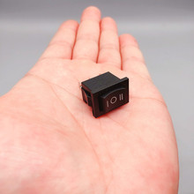 1PCS KCD1 Mini Black 3 Pin / 6 pin On/Off/On Rocker Switch AC 6A/250V10A/125V Home / industry Warpage type