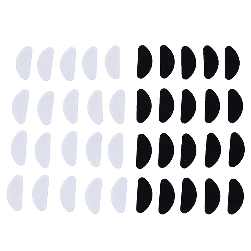 10pcs Glasses Nose Pads Adhesive Silicone Nose Pads Non-slip White Thin Nosepads For Glasses Eyeglasses Eyewear Accessories