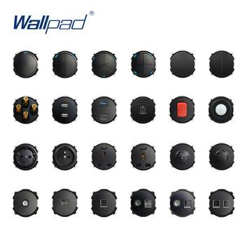 Wallpad czarny ścienny włącznik światła LED wskaźnik ścienne gniazdo zasilające gniazdko elektryczne funkcja klucz tylko DIY za darmo połączenie tanie i dobre opinie CN (pochodzenie) Function Key White Black Function Keys 66 5*66 5 Fire Retardant PC 4000W 110-250V Soft LED Indicator Random Click Button