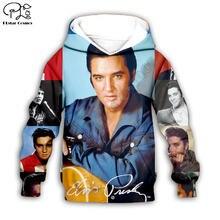 Толстовки с капюшоном изображением Элвиса Пресли пальто на молнии
