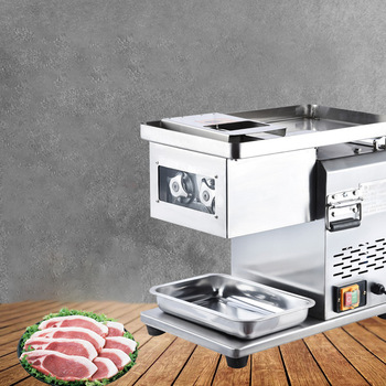 Commercial Meat Slicer Stainless Steel Fully Automatic 1500W Shred Slicer Dicing Machine Electric Vegetable Cutter Grinder beijamei high quality small electric vegetable cutting machine commercial home use vegetable chopper cutter mixer machine