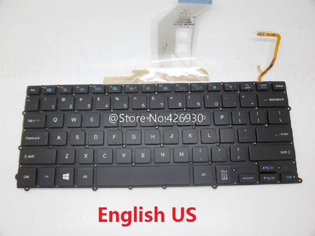 Keyboard For Samsung NP900X3B NP900X3C 900X3D 900X3E 900X3F 900X3K English US France FR UK Germany GR Czech CZ Thailand Backlit