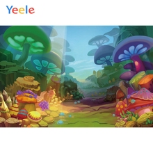 Yeele Wonderland Backdrop Dreamy Mushroom Scene Newborn Baby Birthday Party Customized Photography Background For Photo Studio