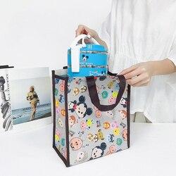 Сумка-контейнер для ланча, водонепроницаемая сумка из мультфильма «Оксфорд» с большой емкостью, изолированная Термосумка для хранения для ...