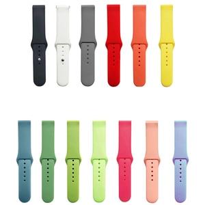 Watch strap For samsung galaxy watch3 41mm 45mm active 2 42/46mm Gear S2 Silicone bracelet Amazfit bip strap Accessories