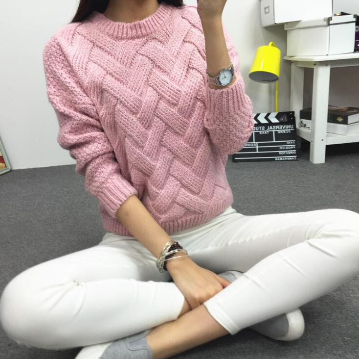 2020 Vintage Women Sweater New Fashion O-neck Pullover Winter Knit Basic Tops Loose Female Knitwear Outerwear Coats