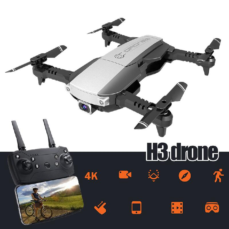 <font><b>H3</b></font> <font><b>Drone</b></font> 4K 1080 Real-time WiFi Transmission <font><b>HD</b></font> Camera Optical Flow Hover RC Helicopter with Camera Remote Control Helicopter image