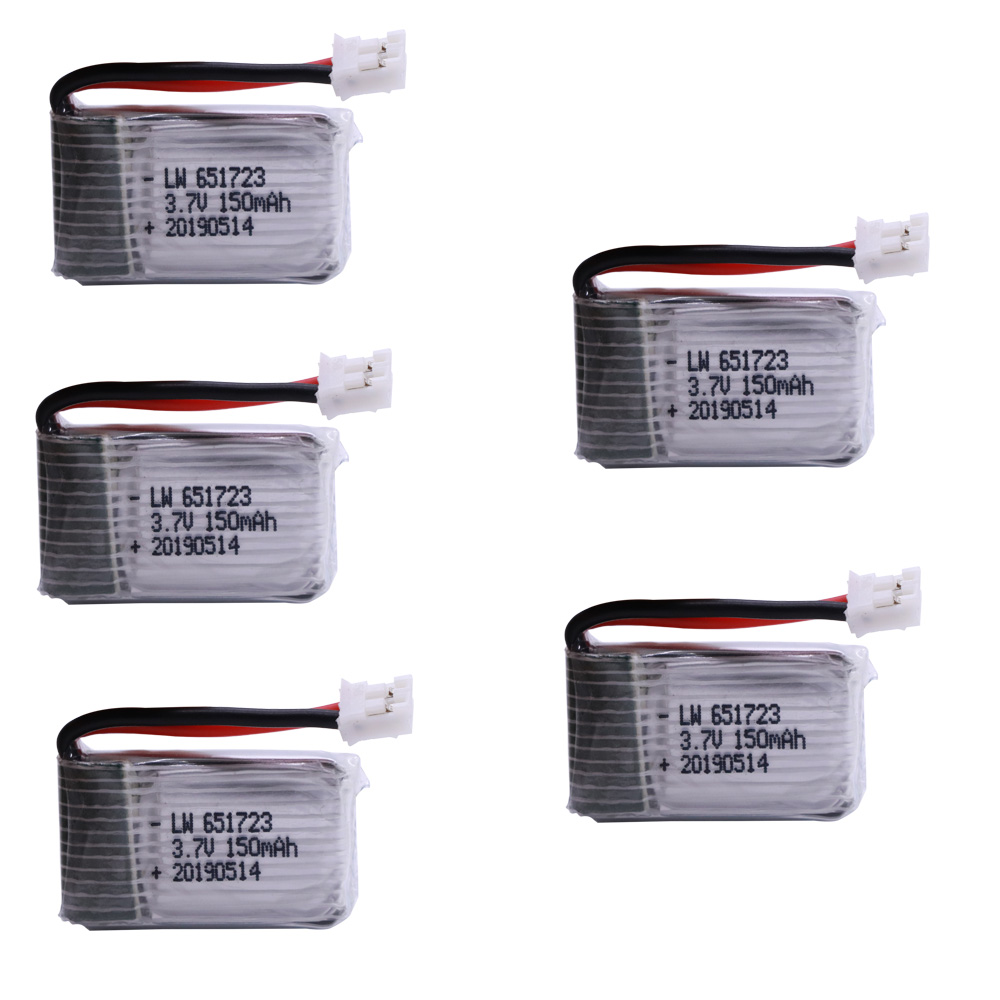 3.7V 150mAh Lipo Battery For H36  E010 E011 E012 E013  Furibee F36 RC Quadcopter Parts Li-po Battery 3.7 150 651723