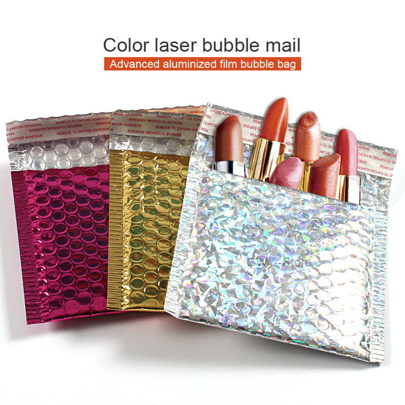 10pcs/lot Multicolor Bubble Mailer Poly Mailing Bags Shipping Envelopes With Bubble Shipping Packaging Envelope Mailers Padded