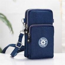 Cep telefonu çantası 6 inç kadın askılı çanta fermuar baskılı çanta moda omuzdan askili çanta