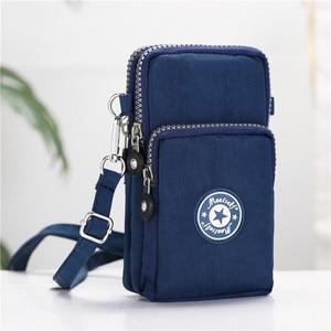 Image 1 - mobile phone bag 6 inch womens messenger bag zipper print bag fashion shoulder bag