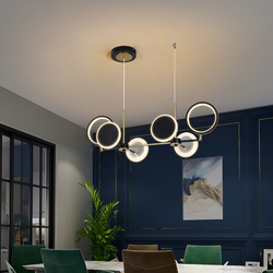 Modern Pendant Lamps For The Kitchen Dining Room Table Home Decor Black Chandeliers Interior Designer Adjustable Hanging Lights