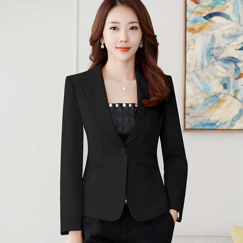 High-quality Blazer Straight and Smooth Jacket Office Lady Style Coat Business Formal Wear Candy Color Slim female suit