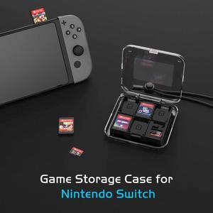 Image 3 - Nintendo anahtarı 12 in 1 oyun hafıza kartı Micro SD vaka tutucu Nintendo anahtarı NS Lite kartuşu saklama kutusu ile kayış