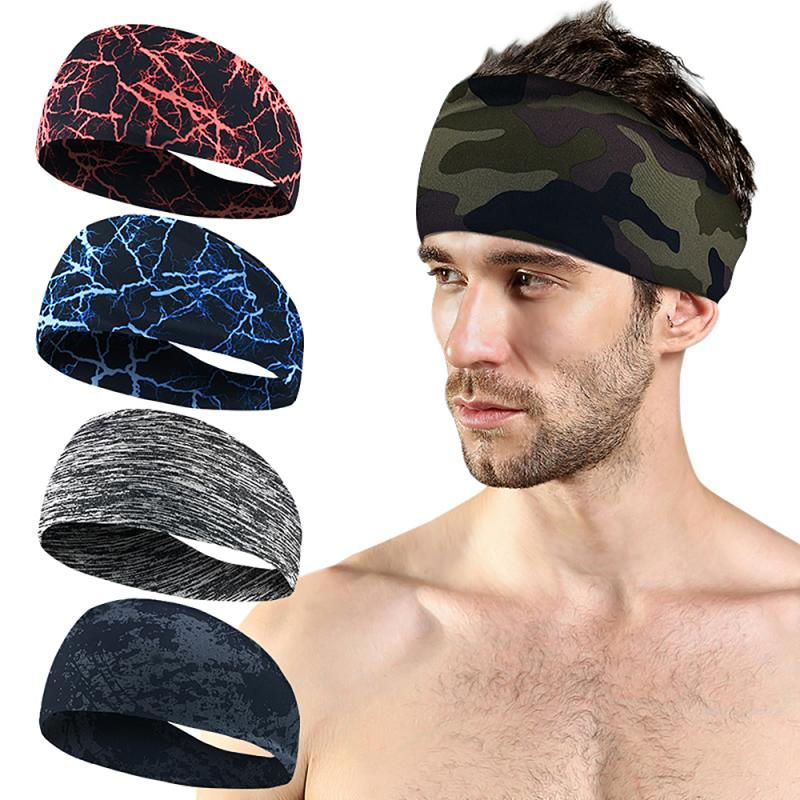 Men Women Stretchy Sports Stretch Head Band Yoga Turban Outdoor  Sports Hair Band Yoga Fitness Movement Antiperspirant Band