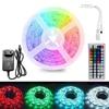 5m 300Leds Non-waterproof RGB Led Strip Light 2835 DC12V 60Leds M 2835 Flexible Lighting Ribbon Tape  24Key 44Key IR Controller review