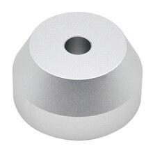 7 дюймов компактная конус Форма разъем адаптер поворотный стол для дома купол Серебряный Универсальный Профессиональный прочный металлический Замена 45 об/мин