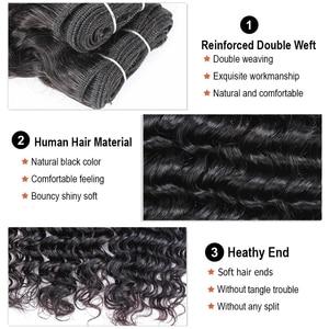 Image 4 - MOGUL שיער 4 חבילות ברזילאי עמוק גל טבעי שחור צבע 50 גרם\יחידה כהה חום שאינו רמי שיער טבעי קצר בוב סגנון