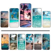 Spiaggia di Estate Mare Hawaii Ocean Palm Tree Cassa Del Telefono Per Huawei Godere 7 7s 8 8e 9 9e 10 più P8lite 2017 Honor 5a view9 gioco 3e(China)