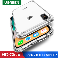 Ugreen Case For iPhone 7 8 Plus Case Shock-proof Back Cover For iPhone X Xs Max Phone Case HD Clear Protective For iPhone 7