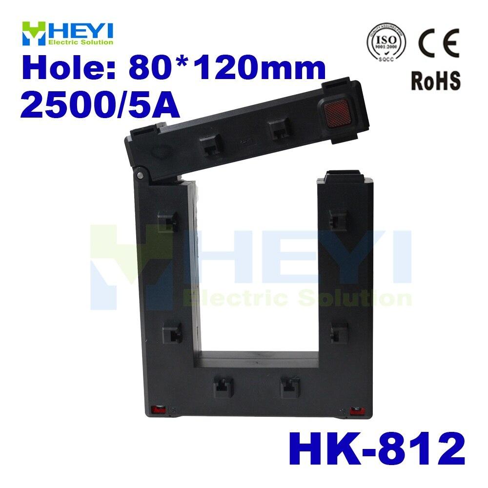 Один зажим для кнопки на трансформаторе тока 2500/5A HK 812 сплит сердечник трансформатор переменного тока высокой емкости