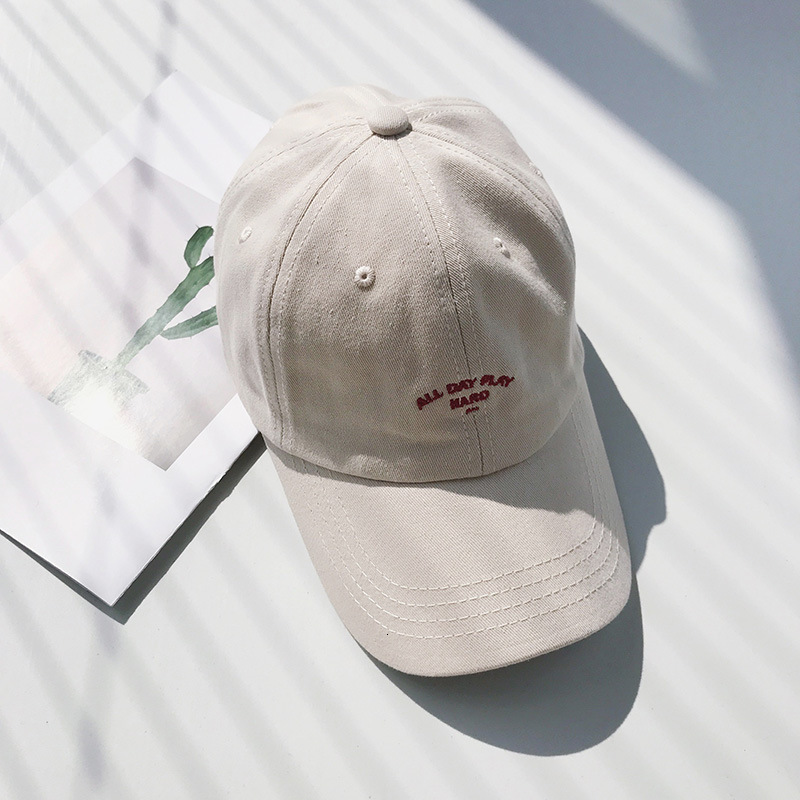 Ink cap Casual Hard Top Baseball Hat Male and Female Letters Embroidery Students Wild Caps Tide