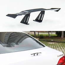 For 17cm Car Modified Racing Rear Small Wing Mini Spoiler Carbon Fiber Twill Look Air Deflector Spoiler Decoration
