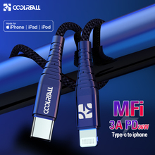 Coolreall PD USB C to Lightning Cable Fast Charging 36W MFi Certified C94 For iPhone X XS XR 8Plus MAX iPad Pro Macbook USB Cord стоимость