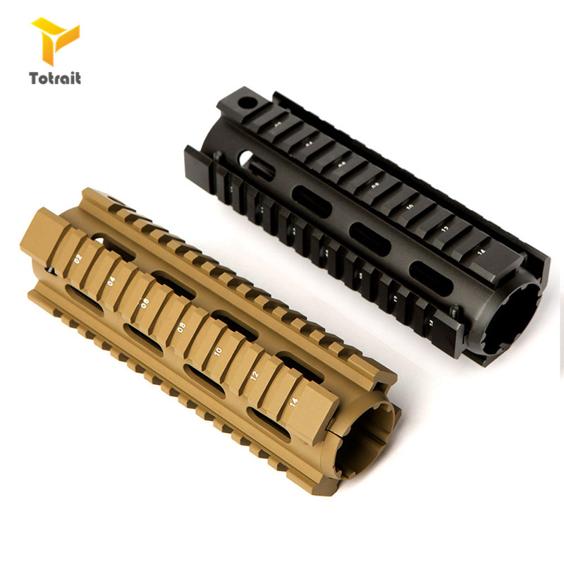 Hunting Tactical Carbine 6.7 Inch RIS Quad Rail 2-Piece Drop-In Mounting <font><b>Handguard</b></font> <font><b>AR</b></font>-<font><b>15</b></font> M4 <font><b>Handguard</b></font> Picatinny Rail Slim image