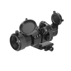 Image 3 - LUGER 홀로그램 레드 닷 시력 M2 20mm 레일 마운트 콜리메이터 시력 에어건 사냥과 사냥 광학 소총 범위