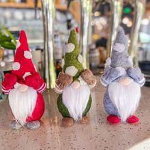 Boże narodzenie Handmade szwedzki Gnome ozdoby dla lalek stojąca figurka zabawki Holiday Home Party DecorThanks dając dzień prezenty dla dzieci Xmas tanie tanio CN (pochodzenie)