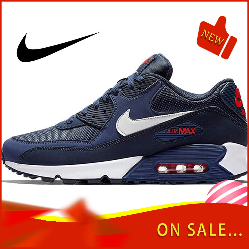 Original Authentic NIKE AIR MAX 90 ESSENTIAL Men's Running Shoes Classic Outdoor Sports Trend Breathable 2019 New AJ1285-403