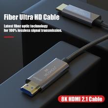 8K Fiber Ultra HD Cable HDMI 2.1 Cable 8K@120Hz Optical Fiber HIFI Audio Cable Ultra HD (UHD) Video Line 48Gbs Cord HDR 4:4:4