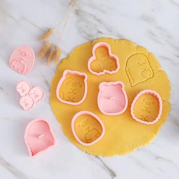 6Pcs/set Cookie Cutters Fondant Cutter Plastic Corner Bio Shape Mold DIY Pastry Decorating Baking Cooking Tools