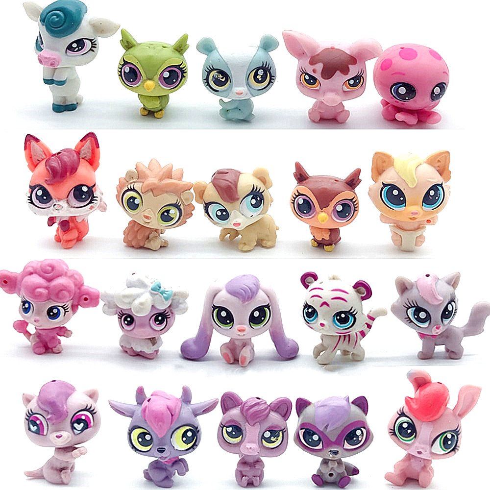 Pet Shop Collection Figures Collie Dog Cat Dolls Pets Kitty Toy Anime Kids Gifts Toys For Children