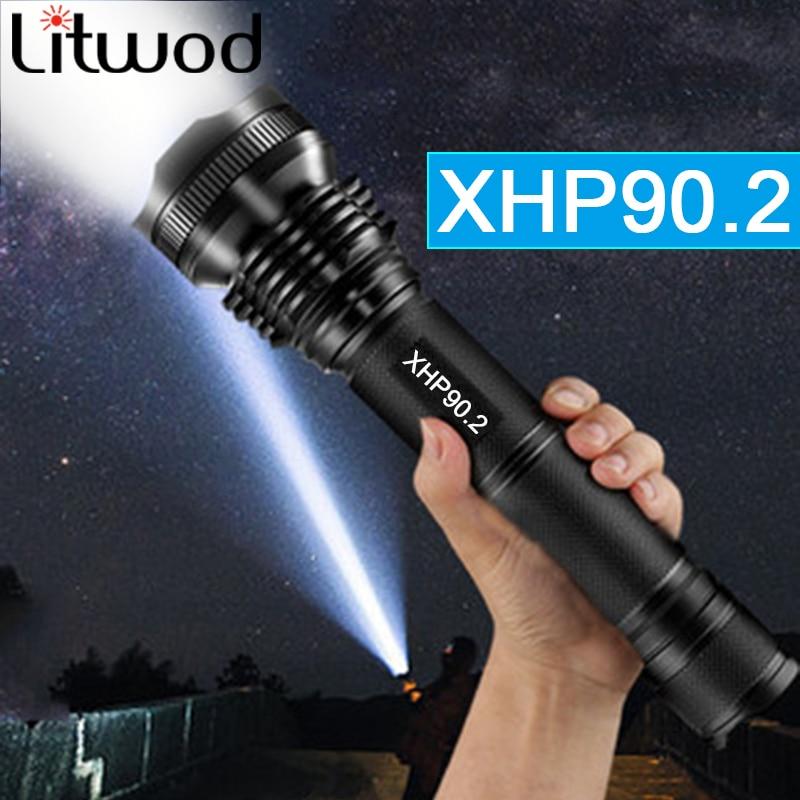 Dropshipping XHP90 LED latarka wyświetlacz mocy XHP70 latarka XHP50 Handheld Light USB akumulator 18650 26650 bateria na kemping