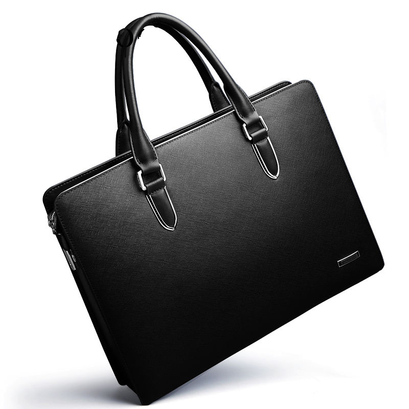 Classic Men's Business Briefcase Laptop Document Case Fashion Attache Messenger Bag Tote Large Capacity Wholesale High Quality