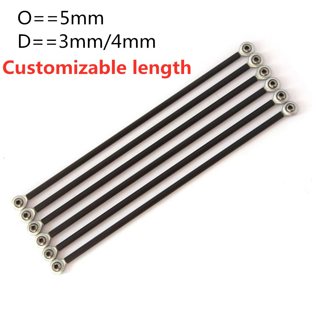 Carbon fiber round tube Delta parallel arms 5*3 5*4 3D printer accessories Fisheye carbon rod The le