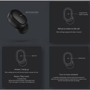 Image 4 - Original Xiaomi Redmi Airdots 2 TWS 이어폰 True Wireless Bluetooth 5.0 마이크 핸즈프리 이어 버드가있는 스테레오베이스 AI Control