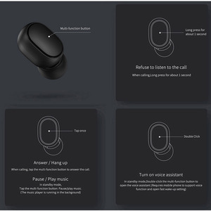 Image 4 - Оригинальные Xiaomi Redmi Airdots 2 TWS наушники истинные Беспроводные Bluetooth 5,0 стерео басы с микрофоном свободные наушники AI Control
