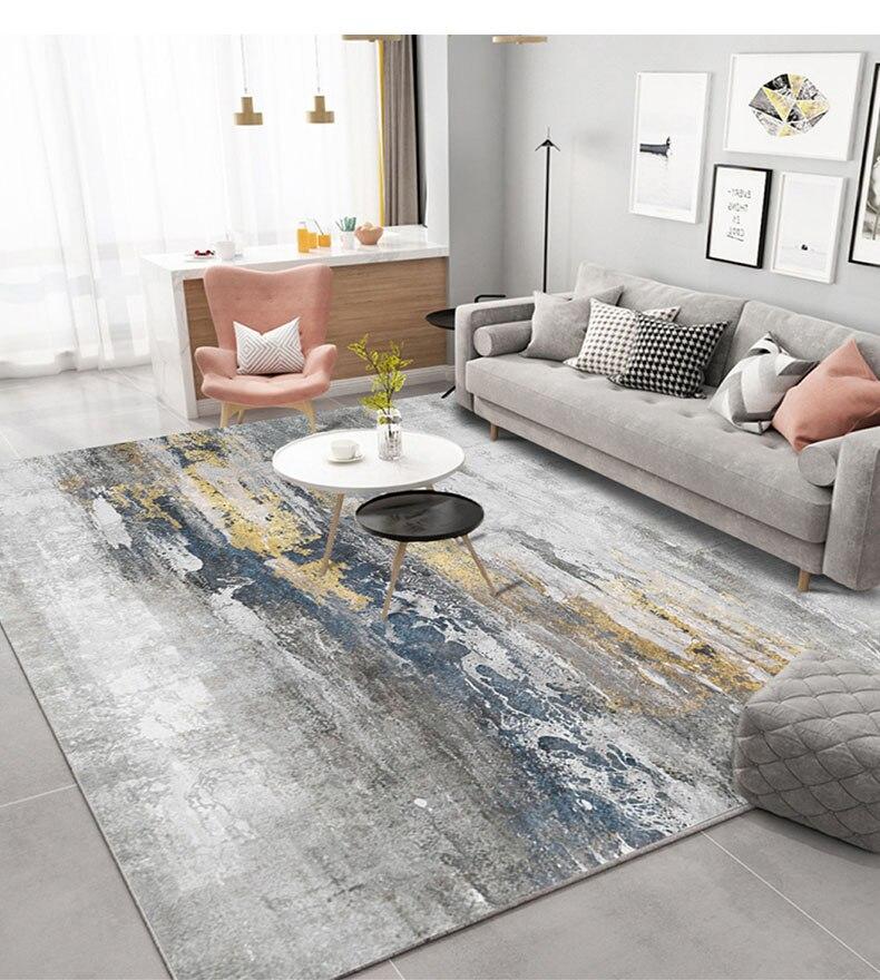 Nórdico moderno abstrato sala de estar quarto