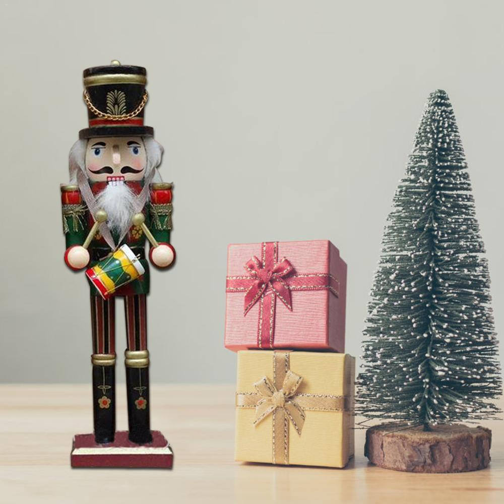 4Pcs Wooden Nutcracker Soldier Handcraft Walnut Puppet Toy Christmas Decor Gifts