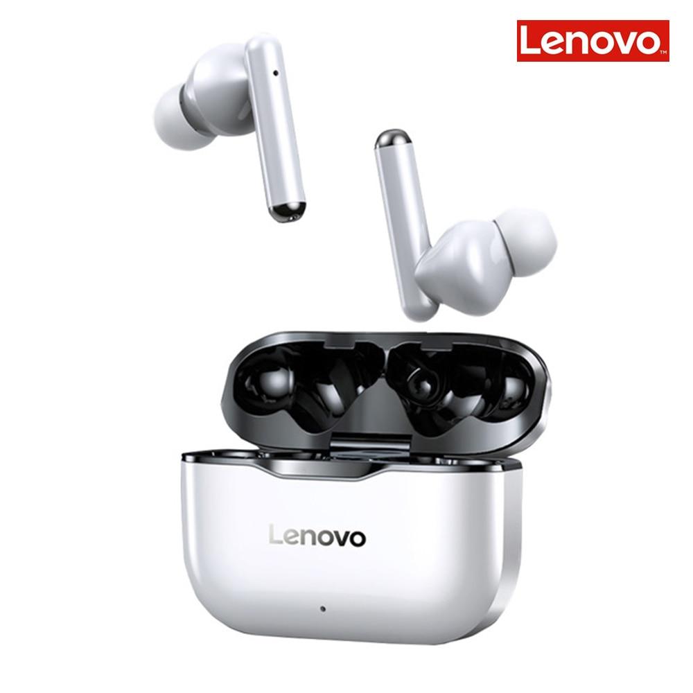 Casque sans fil Lenovo LP1 Auriculares bluetooth 5.0 étanche Sport écouteurs anti-bruit micro double stéréo HIFI basse tactile