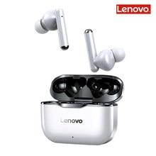 Lenovo lp1 auriculares bluetooth5.0 fones de ouvido sem fio à prova dwaterproof água esporte earbud cancelamento ruído microfone estéreo duplo alta fidelidade baixo toque