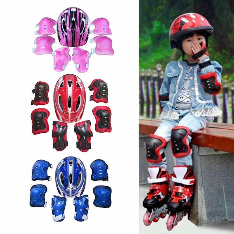 Lixada Kids Bike Helmet with Knee Elbow Wrist Pads Adjustable Sports Protective Gear Set for Ages 3~10 Girls Boys Toddler Child Bike Cycling Skating Roller Scooter