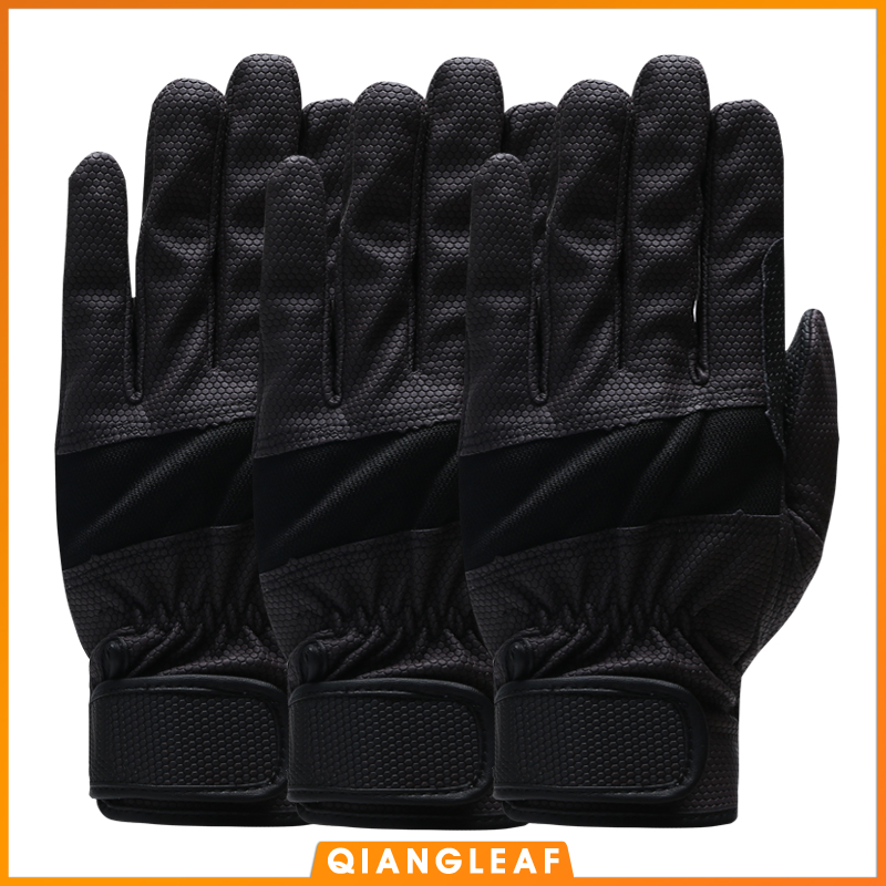 QIANGLEAF 3PCS Work Glove Safety Cycling Gloves Pigskin Pu Nitrile Gloves High Motion Quality Protective Free Shipping 1908