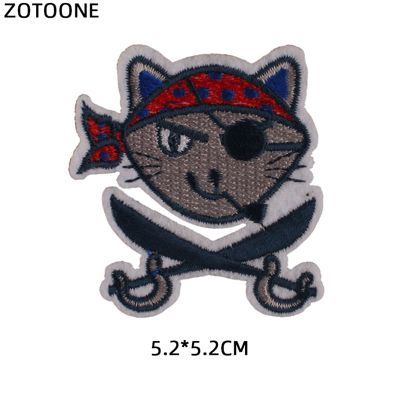 ZOTOONE Iron on Cool Aniaml Patches for Clothing T shirt Badges Embroidered DIY Cool Patch Sew Stripe on Clothes Applique G in Patches from Home Garden