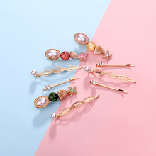 Sweet Vacation Style Starfish Shell Hairpins Pearl Decoration Hair Clips 3pcs Fashion New